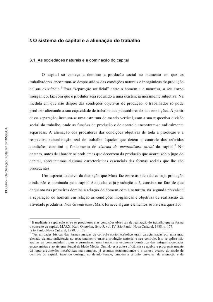 3 O sistema do capital e a alienação do trabalho                                               3.1. As sociedades naturais...
