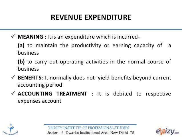capital and revenue expenditure and income essay In this video tutorial, find how to distinguish capital and revenue expenditure with calculations we are thanks full to osborne books to let us use their ma.