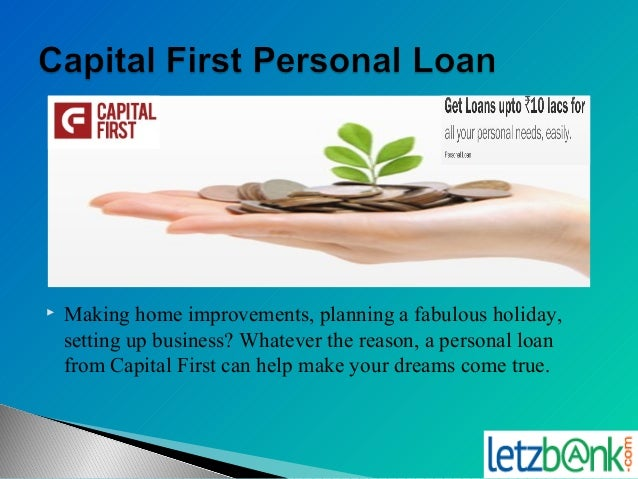 1st Capital Bank Personal Loans