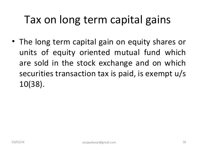 Are stock options short or long term capital gains