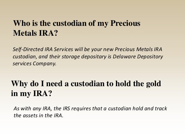 What are the costs involved in setting up a Precious Metals IRA? $25 One Time Set Up Fee $75 Annual Renewable Administrati...