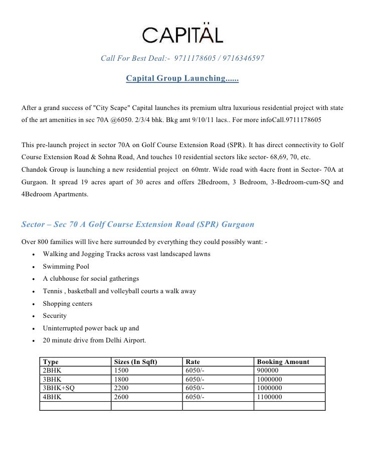 Call For Best Deal:- 9711178605 / 9716346597                                    Capital Group Launching......After a grand...