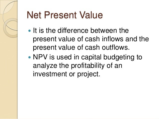 analyze the relationship between npv and The relationship between npv and irr is such that the irr on an investment is the required rate of return that results in a zero npv when it i s used as the discount .