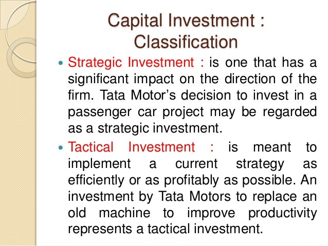 investment definition capital