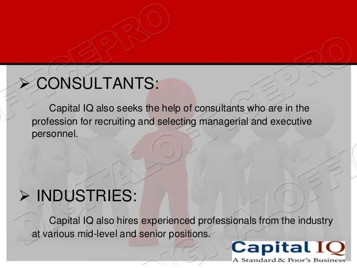 S&P Capital IQ recruiting fresh B.Com,M.com,MBA students