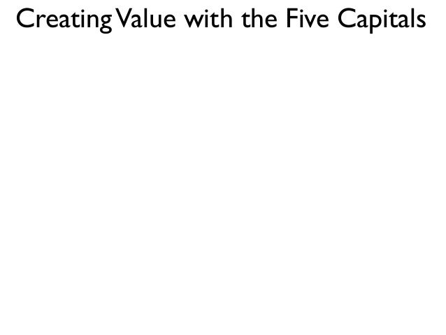 CreatingValue with the Five Capitals