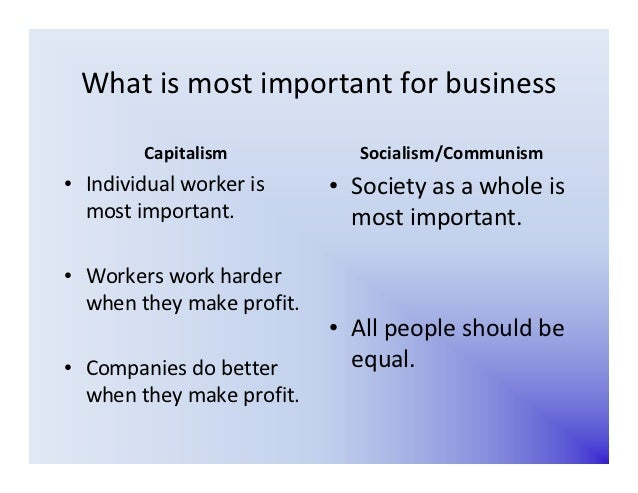 Communism Vs Capitalism Chart Erkalnathandedecker