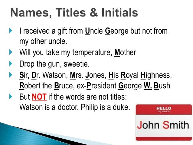 resume capitalization of titles