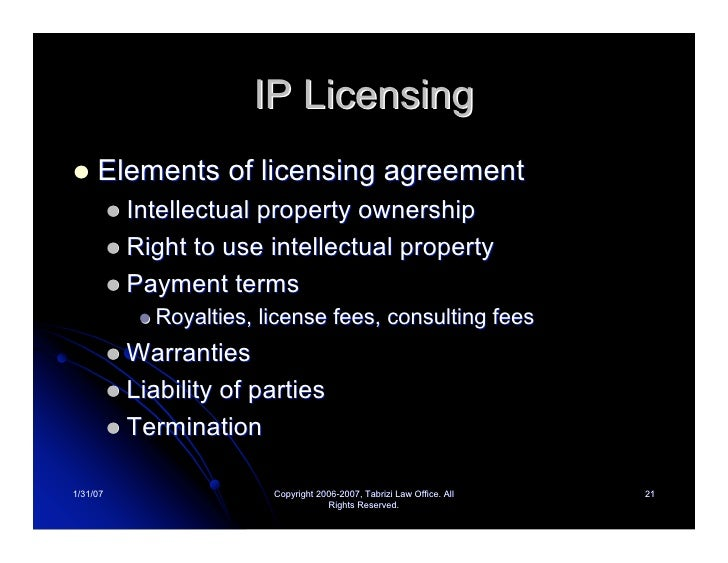 Intellectual Property License Fees
