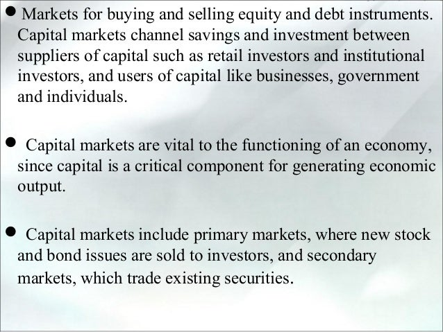 Capital market and primary market