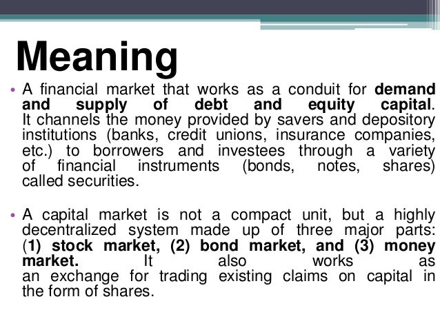 Reforms of capital market