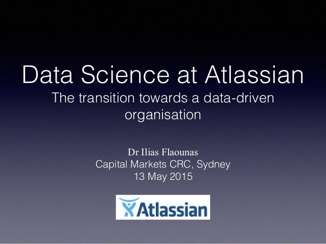 Data Science at Atlassian 