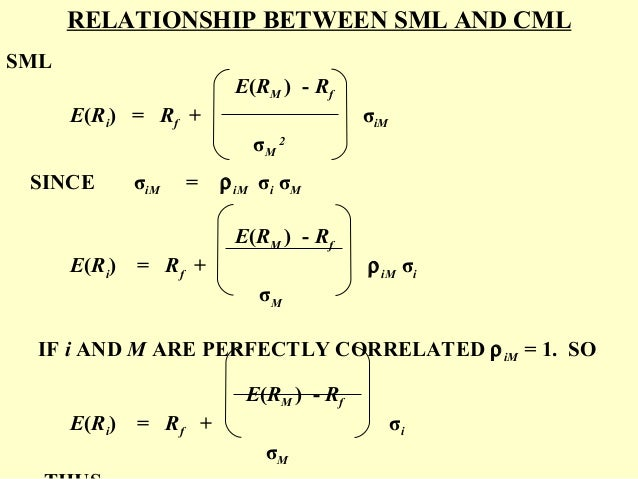 cml and sml relationship between theory