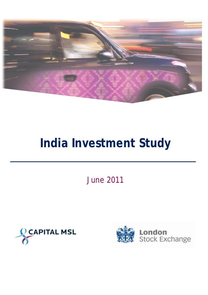 India Investment Study       June 2011