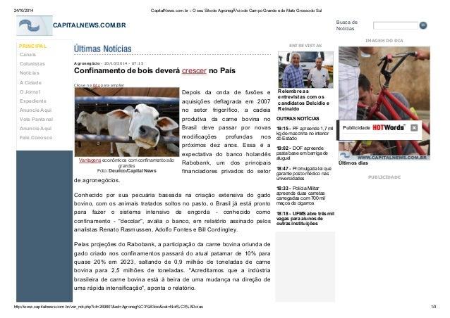 24/10/2014 CapitalNews.com.br :: O seu Site de Agronegócio de Campo Grande e do Mato Grosso do Sul  Busca de  CAPITALNEWS...