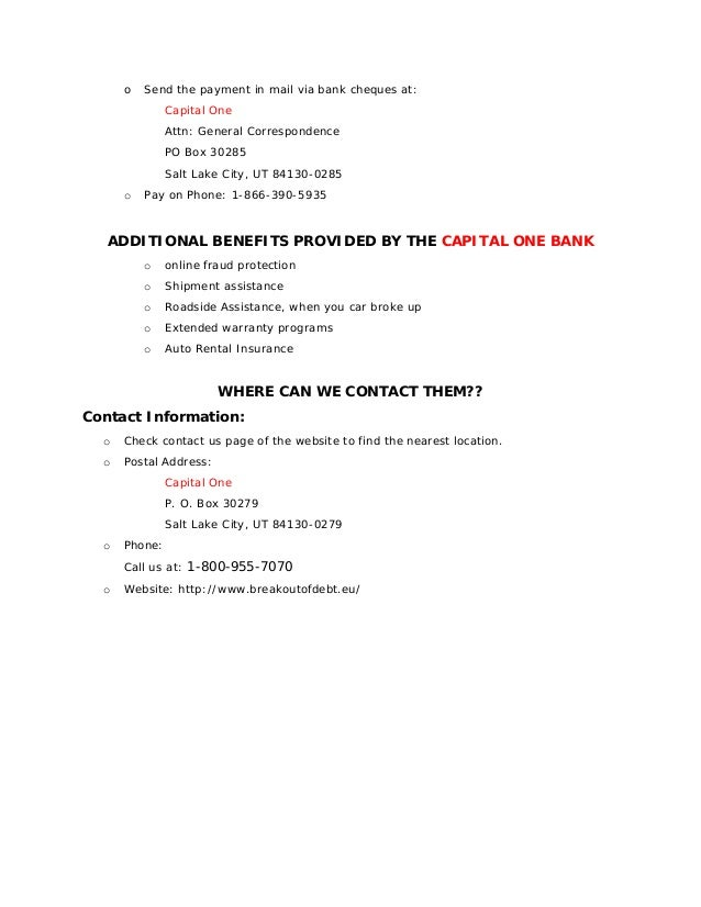 Capital One Credit Card Rental Car Coverage