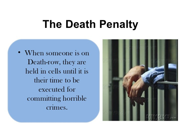 capital punishment 95 Witnesses testified about the implementation of capital punishment and a recent report by an illinois commission on the state's moratorium on executions.