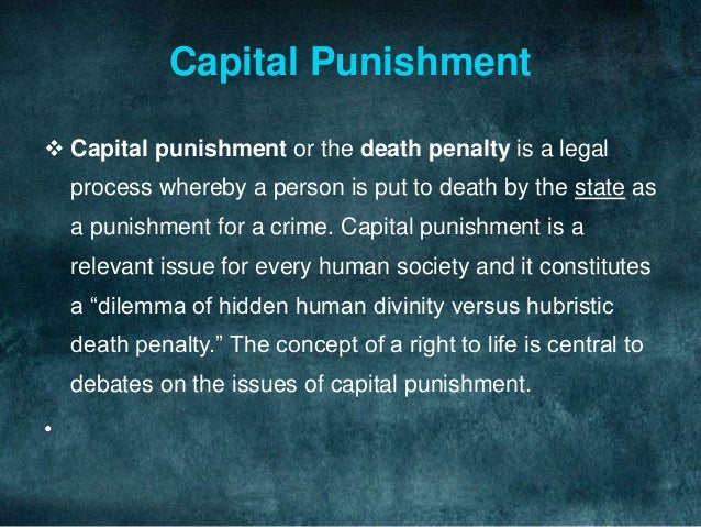 a report on the issues with capital punishment Capital punishment report filed under: term papers tagged with: ethics and law capital punishment people states penalty.