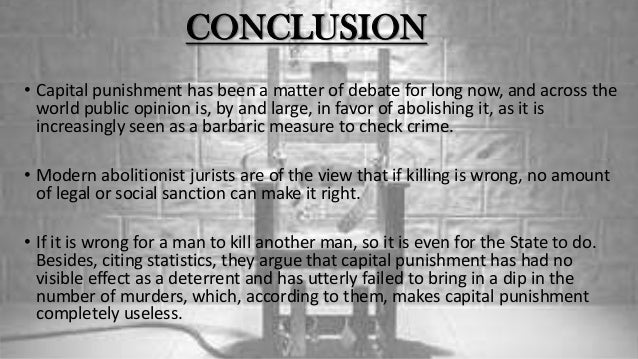Is capital punishment ethically/morally wrong? If so, why?