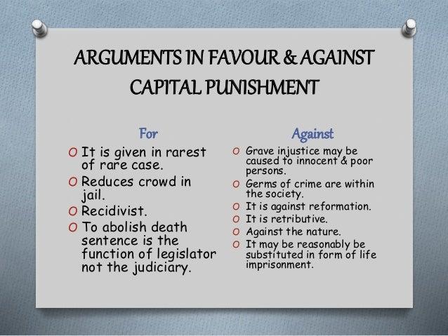 arguments for capital punishment essay