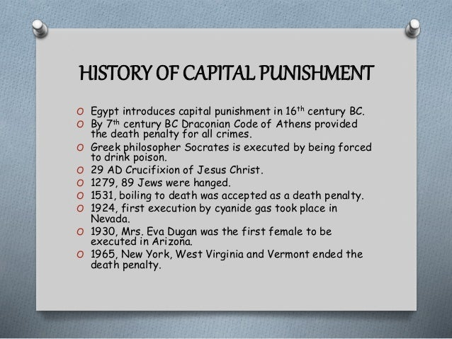 the capital punishment as the legal infliction of the death penalty A commentary on the kitáb-i-adqas states that the bahá'í law of punishment for to the death penalty the infliction of capital punishment is.