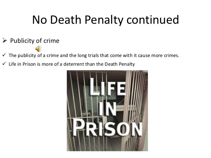 an argument in favor of the death penalty as deterrence to crime Death penalty information center, wwwdeathpenaltyinfoorg, for stats on executions, reports on costs, deterrence studies, links to fbi crime stats and links to testimony (at state legislatures) of victims' family members.