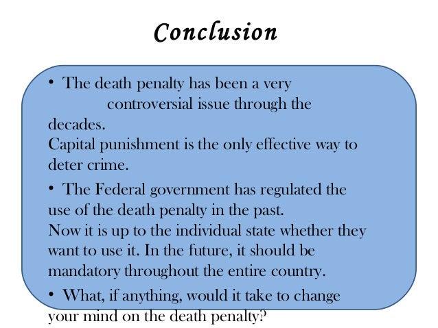 Good conclusion death penalty essay