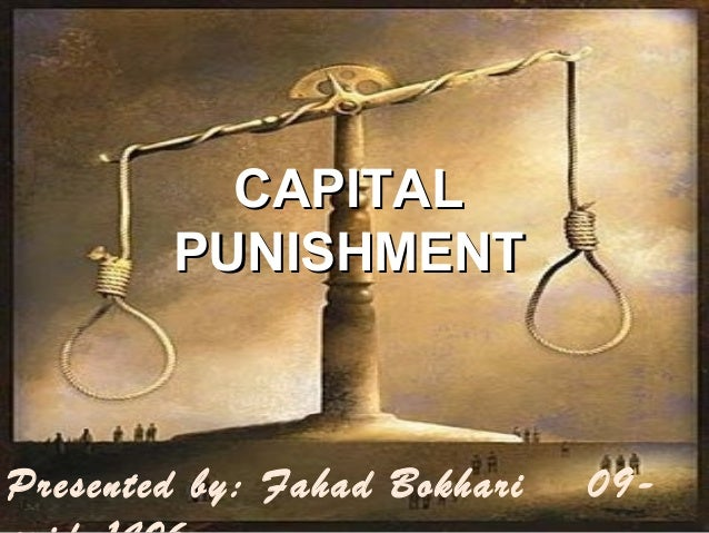 The validation of the capital punishment