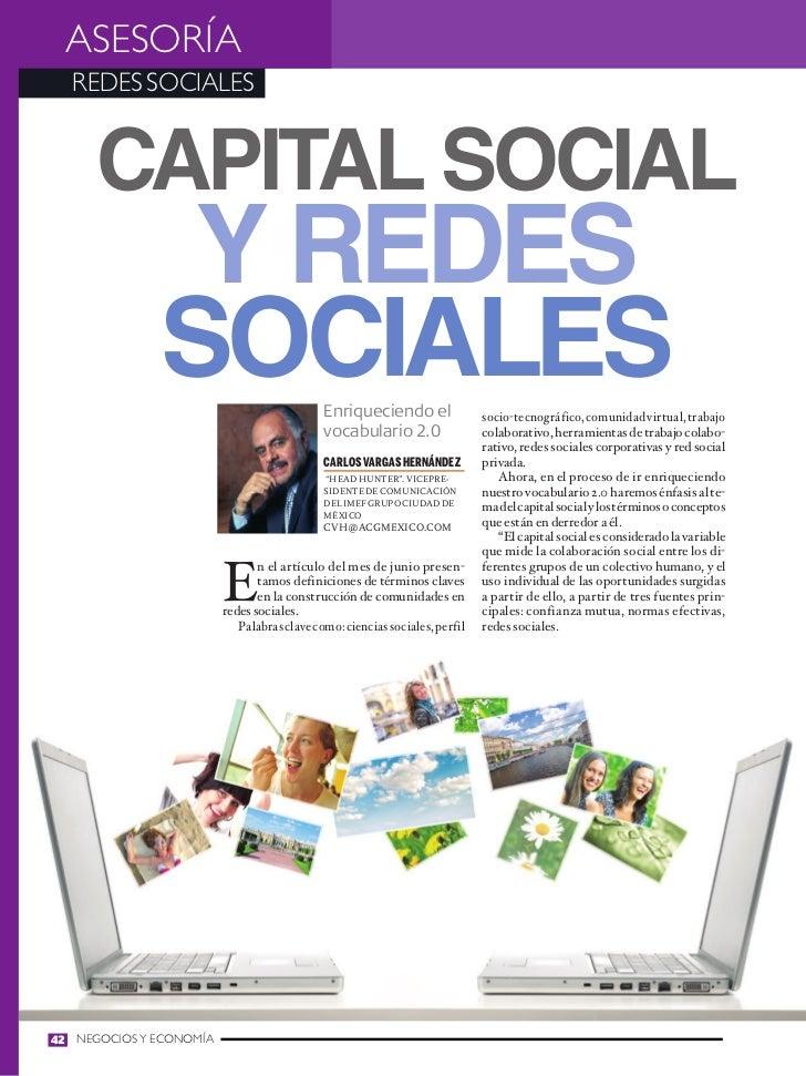 ASESORÍA  REDES SOCIALES      Capital social               y redes              sociales                       Enriquecien...