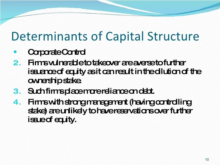 problem statement determinants of capital structure However, owners of thai small firms face problems of access to capital for future  expansion because they have no detailed and reliable financial statements and.