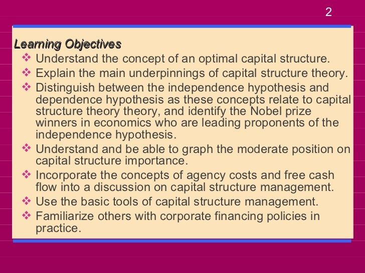 importance of capital structure and cost of capital finance essay Capital structure describes how a corporation  mezzanine debt and equity to keep their true cost of capital as low as  get educated on finance and capital.