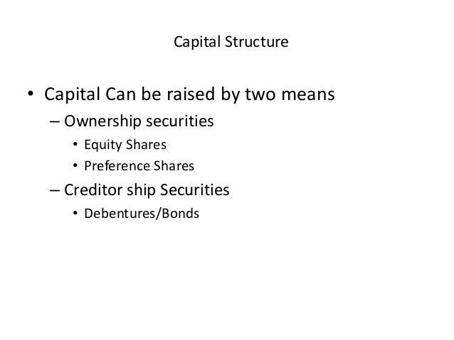 Capital structure Slide 2