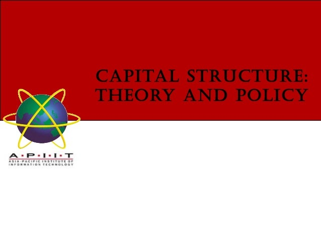 theory of capital structure Business risk and the tradeoff theory of capital structure:  predicting the use of long-term debt in the healthcare  sector.