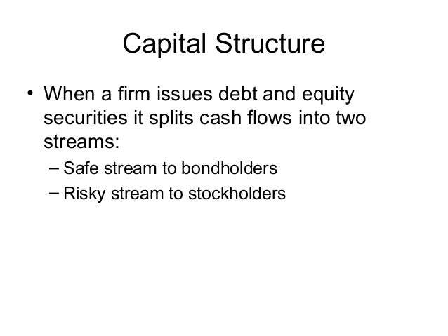 debt and equity in capital structure Companies use both debt and equity to finance their business activities, and the mix of debt and equity constitutes a business's capital structure.