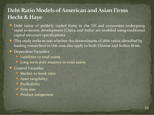 study on the determinants of corporate borrowing Download citation | the determinants of | many corporate assets, particularly  growth opportunities, can be viewed as call options the value of such 'real.