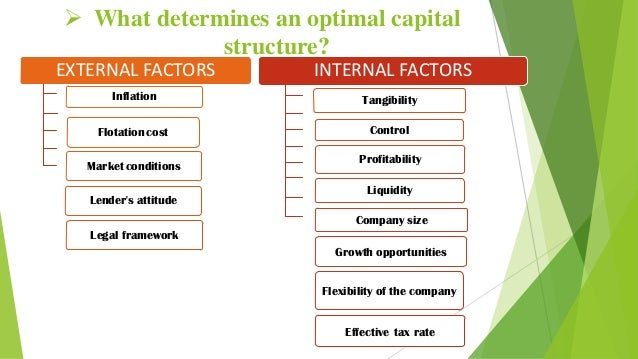 features of capital structure