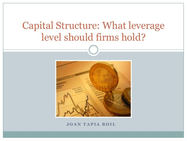 Capital Structure: What leverage  level should firms hold?  JOAN TAPIA BOIL