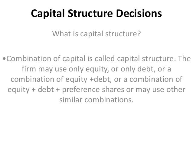 the capital structure decision and the cost of capital essay Google inc is one of the most successful companies that has risen from a new business in the 1990s to one of the largest multinational corporations today.