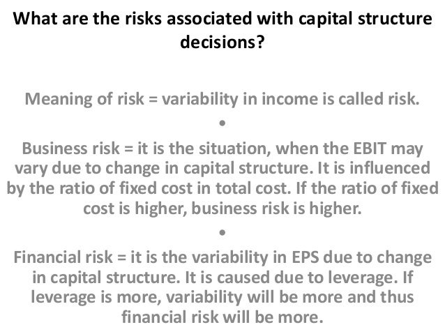 capital structure decisions This paper provides a joint quantitative analysis of capital structure decisions (debt versus equity) and debt structure decisions (fixed-rate debt versus floating.