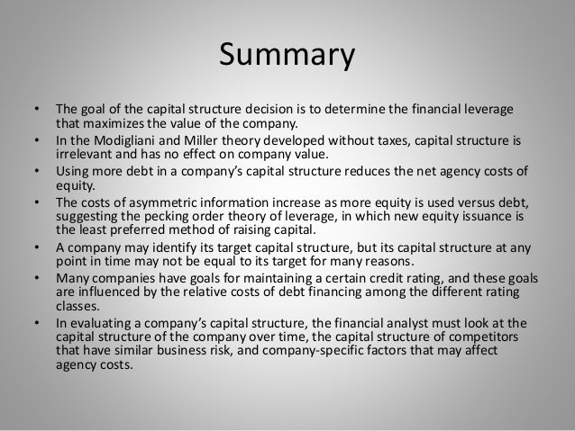 dividend policy capital structure Two capital structure theories (hierarchy theory and substitution the- ory) and dividend payment policies in polish stock companies of the agricultural and foodstuffsector (2001–2006).