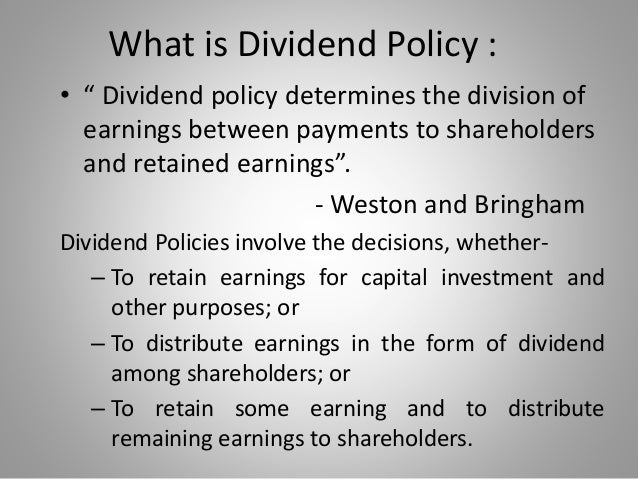 capital structure and dividend theory