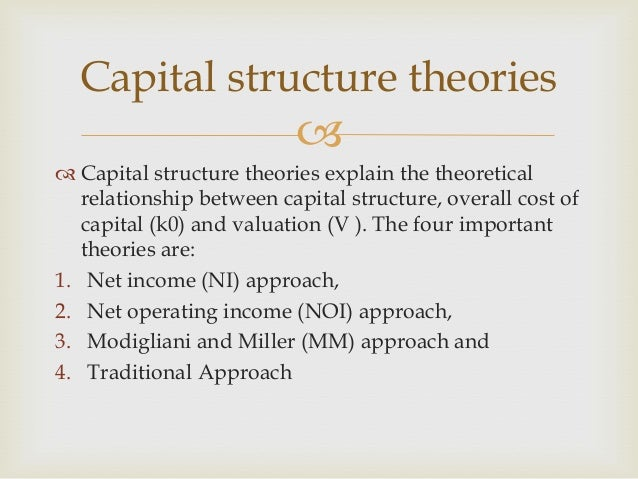 capital structure irrelevance theory