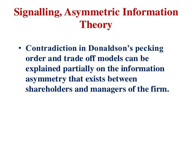 signalling theory of capital structure It reveals that when the cheaper debt capital in the capital structure is proportionally increased, the weighted average cost of capital k w, decreases and consequently the cost of debt k d thus, it is needless to say that the optimal capital structure is the minimum cost of capital, if financial leverage is one, in other words, the maximum .