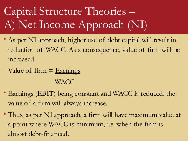 capital structure of firms A firm's capital structure is the composition or 'structure' of its liabilities for example, a firm that has $20 billion in equity and $80 billion in debt is said to be 20% equity-financed and 80% debt-financed the firm's ratio of debt to total financing, 80% in this example, is referred to as the firm's leverage.