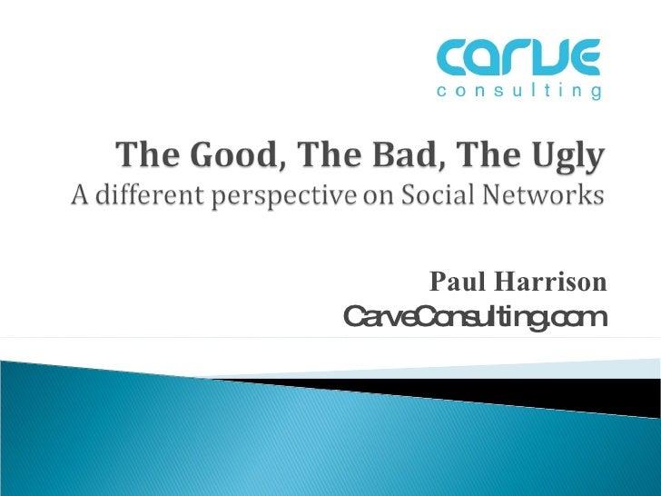 Paul Harrison CarveConsulting.com