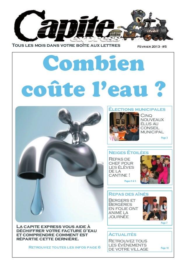 Tous les mois dans votre boîte aux lettres                    Février 2013 - #5     Combien   coûte l'eau ?               ...