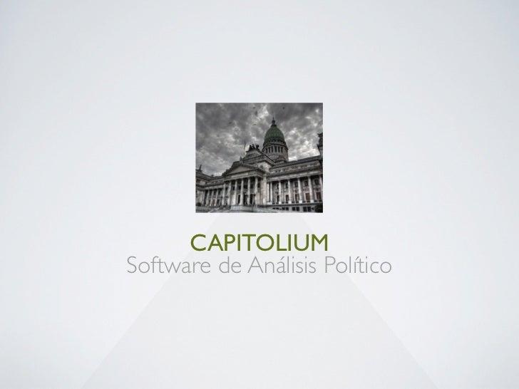 CAPITOLIUMSoftware de Análisis Político