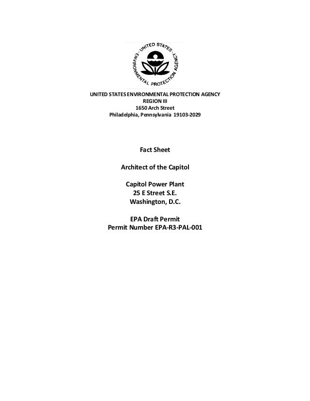 UNITED STATES ENVIRONMENTAL PROTECTION AGENCYREGION III1650 Arch StreetPhiladelphia, Pennsylvania 19103-2029Fact SheetArch...