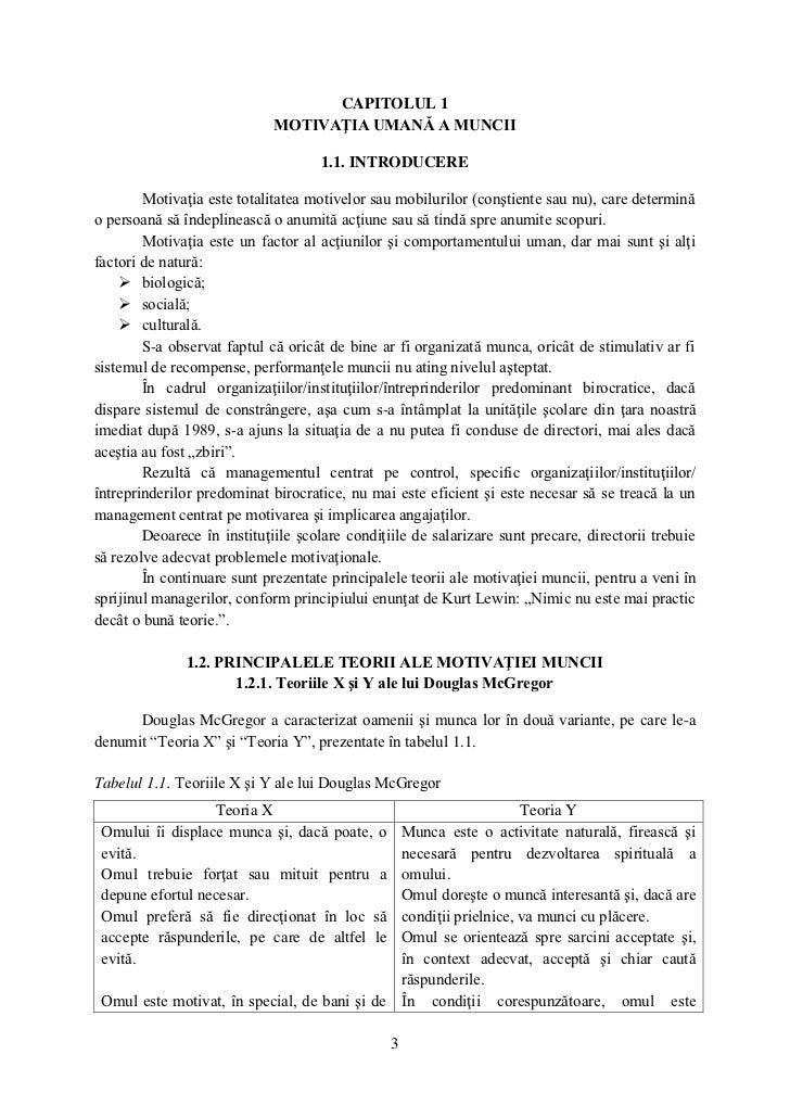 CAPITOLUL 1                             MOTIVAŢIA UMANĂ A MUNCII                                    1.1. INTRODUCERE      ...