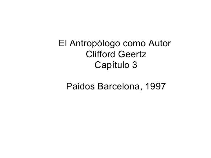 EL ANTROPOLOGO COMO AUTOR PDF DOWNLOAD